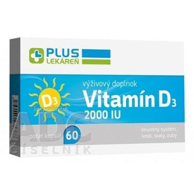 PLUS LEKÁREŇ Vitamín D3 2000 IU