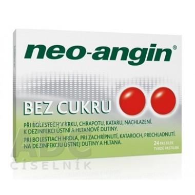 Neo-angin bez cukru tvrdé pastilky