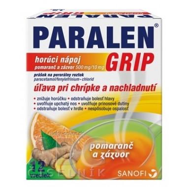 PARALEN GRIP horúci nápoj pomaranč a zázvor