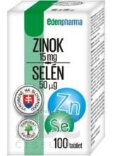 EDENPharma ZINOK 15 mg + SELÉN 50 µg