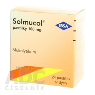 Solmucol pastilky 100 mg