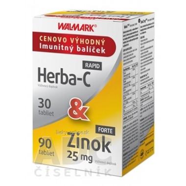 WALMARK Herba-C RAPID + Zinok FORTE 25 mg