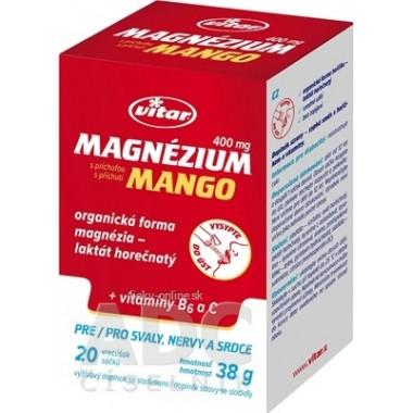 VITAR Magnézium 400 mg + vitamíny B6 a C