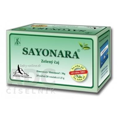SAYONARA zelený čaj