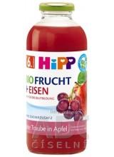 HiPP BIO Jablko a červené hrozno + železo