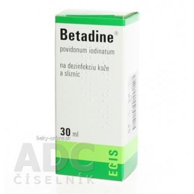 Betadine dezinfekčný roztok 100 mg/ml