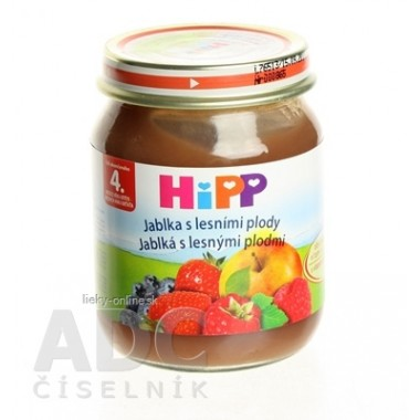 HiPP Príkrm ovocný Jablká s lesnými plodmi