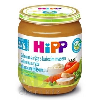 HiPP Príkrm BIO Zelenina a ryža s kuracím mäsom