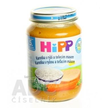 HiPP Príkrm BIO Mrkva s ryžou a teľacím mäsom