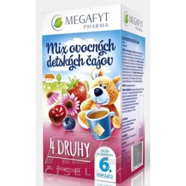 MEGAFYT MIX ovocných detských čajov 4 DRUHY