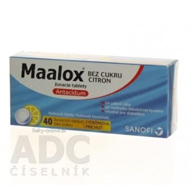 Maalox bez cukru s príchuťou citróna