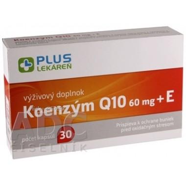 PLUS LEKÁREŇ Koenzým Q10 60 mg + E