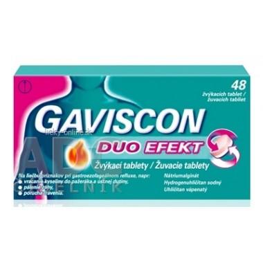 GAVISCON DUO EFEKT žuvacie tablety
