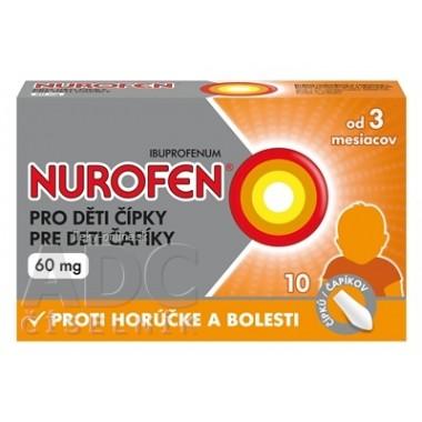 NUROFEN pre deti čapíky 60 mg