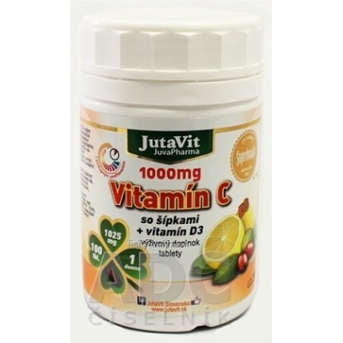 JutaVit Vitamín C 1000 mg so šípkami + vitamín D3
