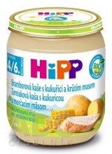 HiPP Príkrm BIO Zemiaky s kukuricou a morč.mäsom