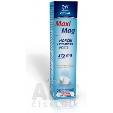 Zdrovit MaxiMag HORČÍK FORTE (375 mg) + VITAMÍN B6